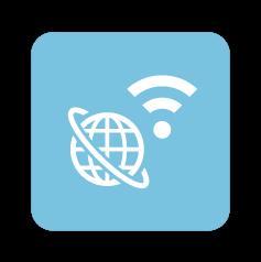 インターネットとWi-Fiのアイコン
